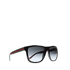 Gucci - Black GG1118 rectangle sunglasses