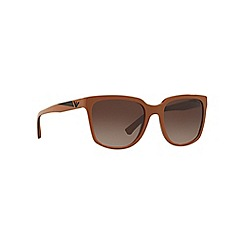 Emporio Armani - Light brown EA4070 square sunglasses