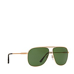 Tom Ford - Gold 'Aaron' FT0451 pilot sunglasses