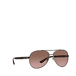 Vogue - Gunmetal 'Vogue' pilot frame sunglasses
