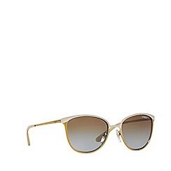 Vogue - Matte beige 'Vogue' pillow frame sunglasses