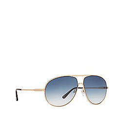 Tom Ford - Yellow 'Tracy' FT0450 pilot sunglasses