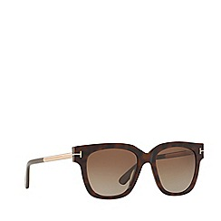 Tom Ford - Brown 'Monica' FT0436 rectangle sunglasses