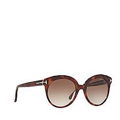 Tom Ford - Brown 'Tamara' FT0429 rectangle sunglasses