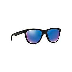 Oakley - Matte black 'Moonlighter' OO9320 round sunglasses