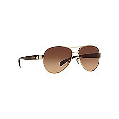 Coach - Gold HC7063 pilot sunglasses