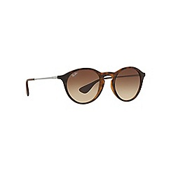 Ray-Ban - Brown RB4243 round sunglasses