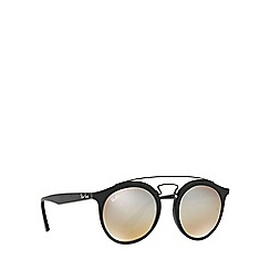 Ray-Ban - Matte black phantos frame grey lense sunglasses