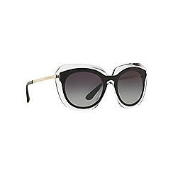 Dolce & Gabbana - Black irregular DG4282 sunglasses