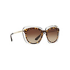 Dolce & Gabbana - Brown irregular DG4282 sunglasses