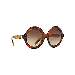 Ralph Lauren - Brown RL8140 round sunglasses
