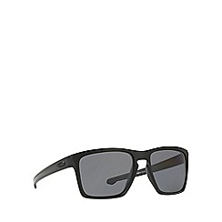 Oakley - Matte black 'Sliver Xl' OO9341 rectangle sunglasses