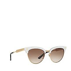 Gucci - Ivory cat eye frame sunglasses