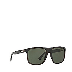 Gucci - Tortoise GG1075 rectangle sunglasses