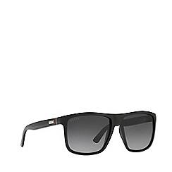 Gucci - Shiny black GG1075 rectangle sunglasses