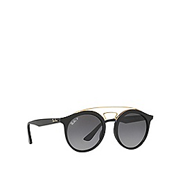 Ray-Ban - Matte black RB4256 round sunglasses