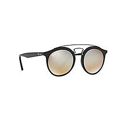 Ray-Ban - Matte black phantos grey unisex sunglasses