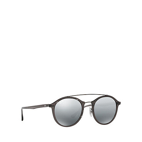 ray bans sunglasses debenhams  ray ban grey rb4266 round sunglasses