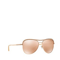 Michael Kors - Rose gold 'Vivianna' MK1012 aviator sunglasses