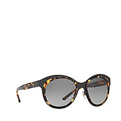 Ralph Lauren - Shiny black RL7051 irregular sunglasses