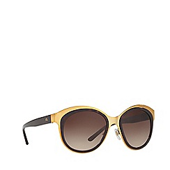 Ralph Lauren - Shiny gold RL7051 irregular sunglasses