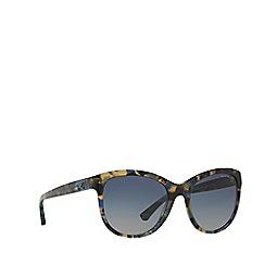 Emporio Armani - Blue round frame sunglasses