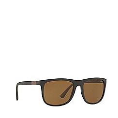 Emporio Armani - Matte brown square frame sunglasses