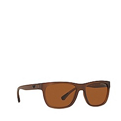 Emporio Armani - Matte brown EA4081 square sunglasses