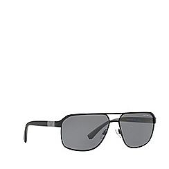 Emporio Armani - Black rectangle frame grey lense sunglasses