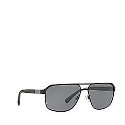 Emporio Armani - Black EA2039 rectangle sunglasses