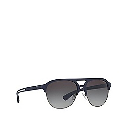 Emporio Armani - Blue rubber EA4077 square sunglasses