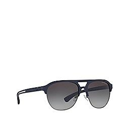 Emporio Armani - Blue rubber square frame sunglasses