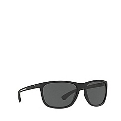Emporio Armani - Black rubber EA4078 rectangle sunglasses