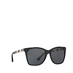 Emporio Armani - Black square frame grey lenses sunglasses