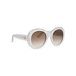Gucci - Silver GG3815 round sunglasses