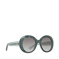 Gucci - Dark green GG3815 round sunglasses