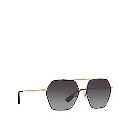 Dolce & Gabbana - Matte black irregular DG2157 sunglasses