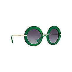 Dolce & Gabbana - Green DG6105 round sunglasses