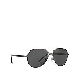 Ralph Lauren - Matte gunmetal PH3102 pilot sunglasses