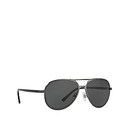 Ralph Lauren - Matte gunmetal pilot frame sunglasses
