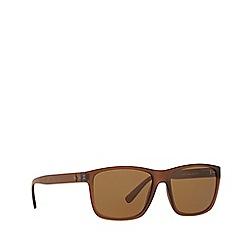 Ralph Lauren - Matte brown rectangle frame sunglasses