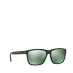 Ralph Lauren - Matte green PH4113 rectangle sunglasses