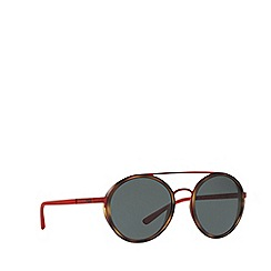 Polo Ralph Lauren - Shiny red PH3103 round sunglasses