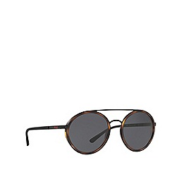 Polo Ralph Lauren - Matte black PH3103 round sunglasses