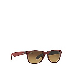 Ray-Ban - Red 'New Wayfarer' RB2132 square sunglasses