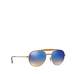 Ray-Ban - Shiny bronze round RB3540 sunglasses
