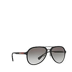 Prada Linea Rossa - Black rubber pilot PS 05RS sunglasses