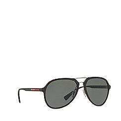 Prada Linea Rossa - Brown rubber pilot PS 05RS sunglasses