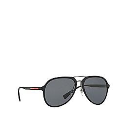 Prada Linea Rossa - Black PS 05RS pilot sunglasses