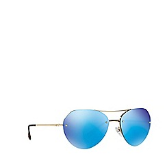 Prada Linea Rossa - Pale gold PS57RS irregular sunglasses